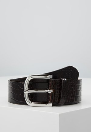 WIDE BELT - Belt - dark brown