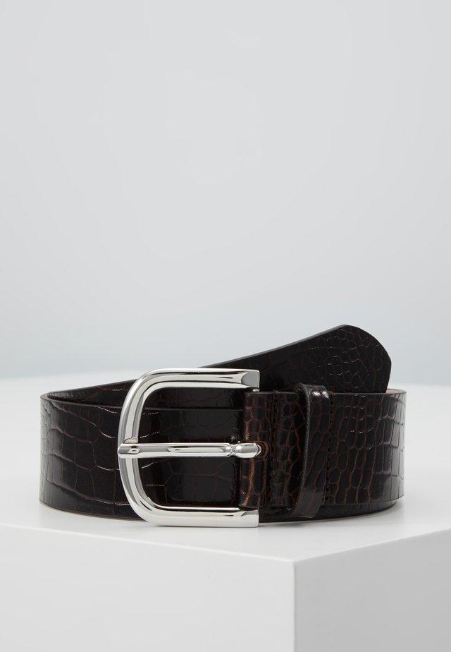 WIDE BELT - Pásek - dark brown