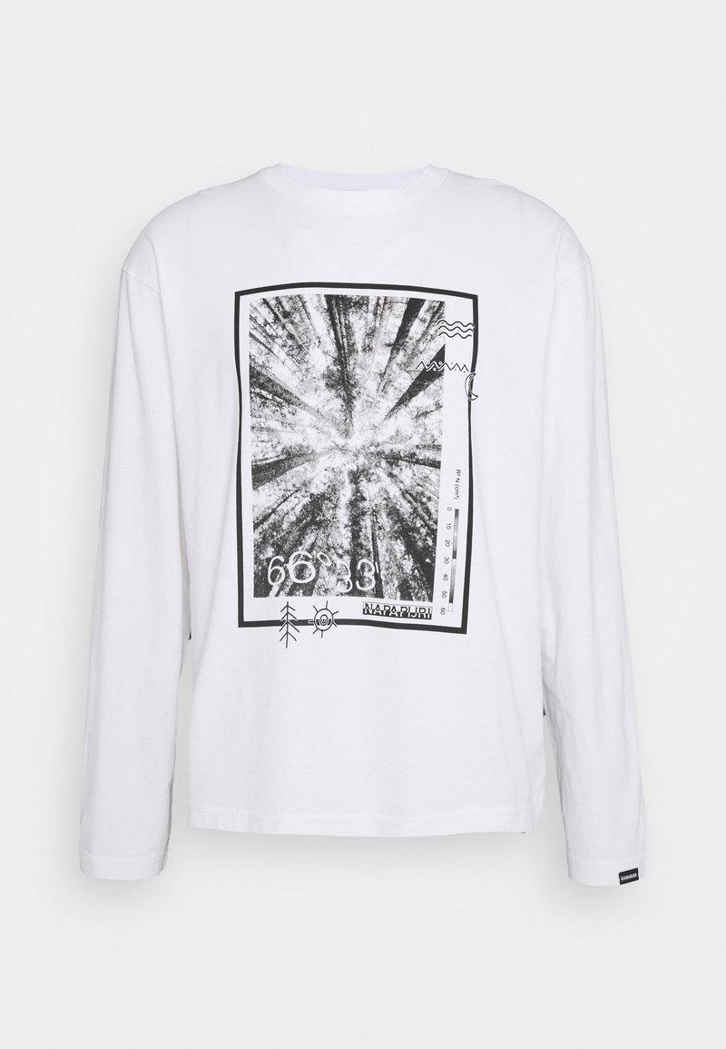 Napapijri The Tribe - PASILAN UNISEX - Långärmad tröja - bright white