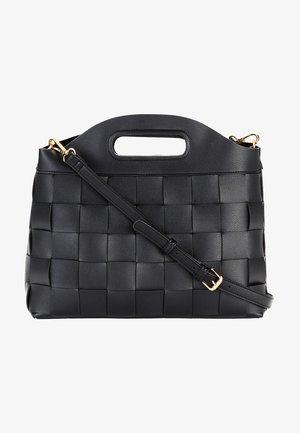 FLECHTOPTIK - Handbag - schwarz