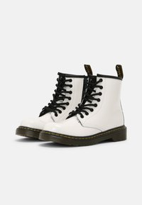 Dr. Martens - 1460 J - Lace-up ankle boots - white patent lamper - 1