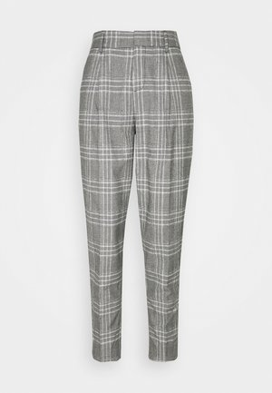 PLEATED TAPER MENSWEAR - Trousers - black/white