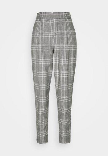 PLEATED TAPER MENSWEAR - Trousers - black/white