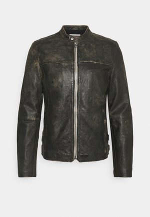 EAGLE ROCK VINTAGE BIKER - Leather jacket - black