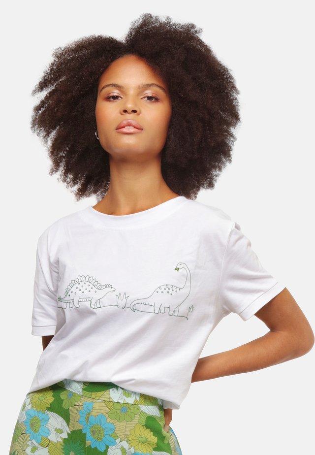 MILLY DINO  - T-shirt med print - white