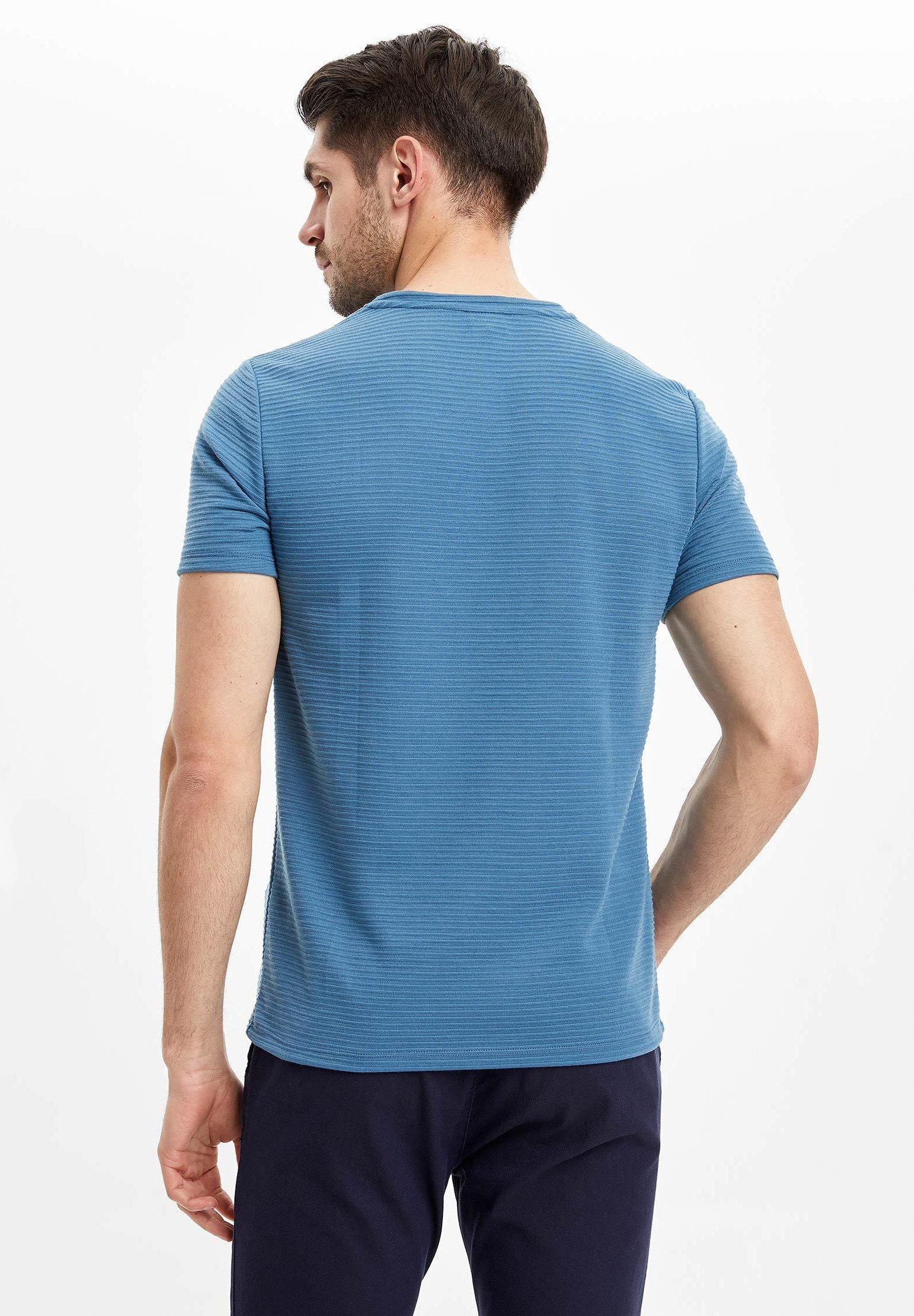DeFacto Basic T-shirt - blue GptPH