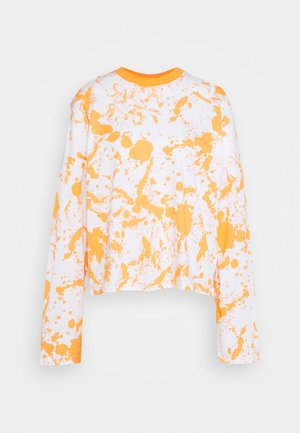 PAINT SPLAT PRINT SKATER TEE - Long sleeved top - orange