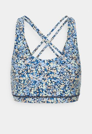STRAPPY SPORTS CROP - Sujetador deportivo - ditsy blue