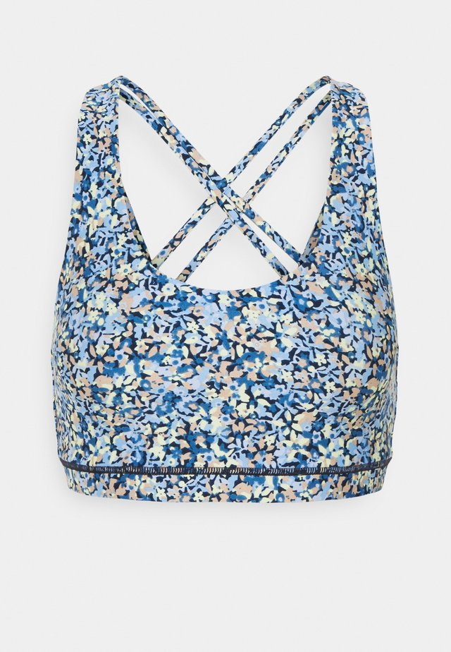 STRAPPY SPORTS CROP - Sports bra - ditsy blue