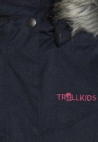 TrollKids - GIRLS OSLO COAT  - Winter coat - navy/magenta - 4