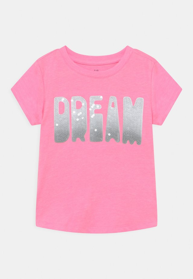 GIRL TEE - Print T-shirt - neon impulsive pink