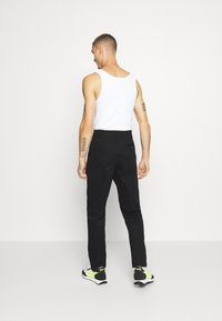 Topman - BLACK PLEAT - Trousers - black - 2