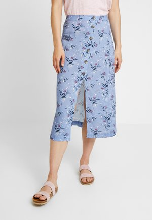 ASYMMETRICAL BUTTON SKIRT - Maxi skirt - multi-coloured