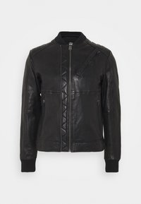 G-Star - MOTO  - Leather jacket - black - 0