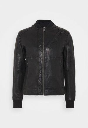 MOTO  - Kožená bunda - black