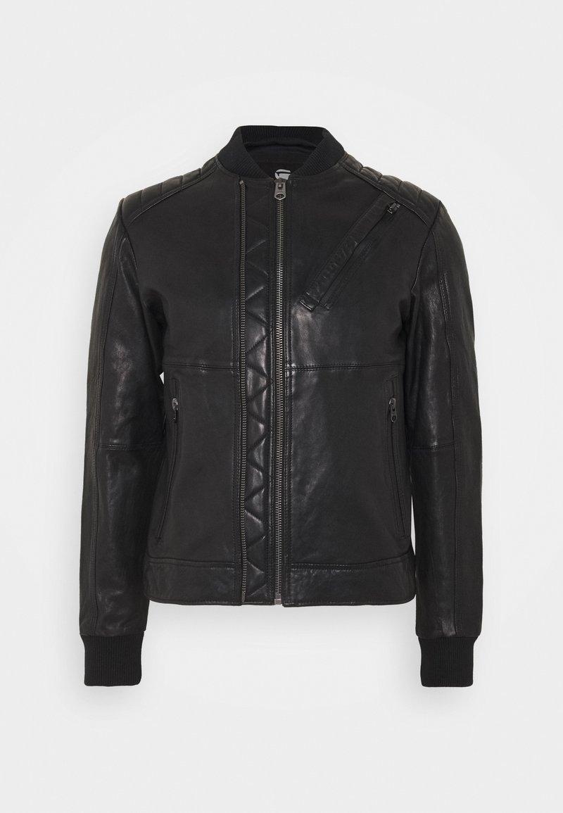 G-Star - MOTO  - Leather jacket - black