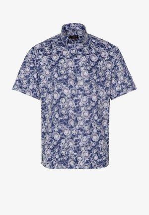 Shirt - blau/weiß