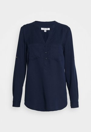 MIKA POPOVER ROLL SLEEVE - Blouse - navy