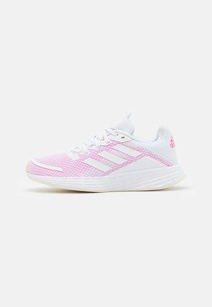 DURAMO - Chaussures de running neutres - footwear white/screaming pink