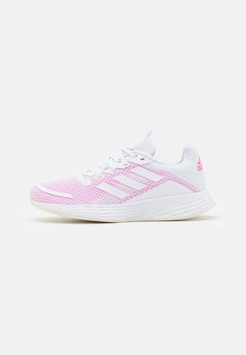 DURAMO - Nøytrale løpesko - footwear white/screaming pink