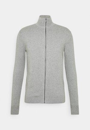 Cardigan - light soft grey melange