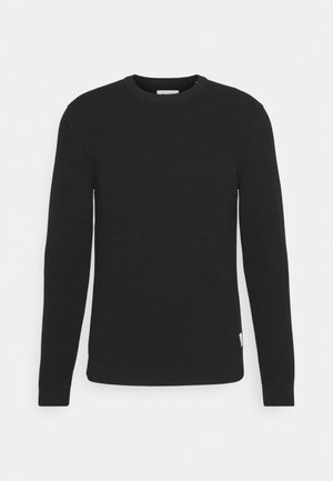 LONG SLEEVE WITH ROUND NECK - Strickpullover - black