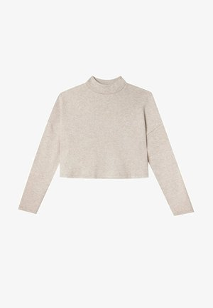 MIT ROLLKRAGEN - Long sleeved top - stone