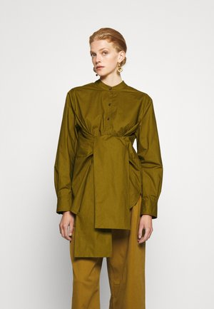TIED SHIRT - Blouse - olive