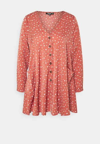 BUTTON THRU SMOCK DRESS DALMATIAN