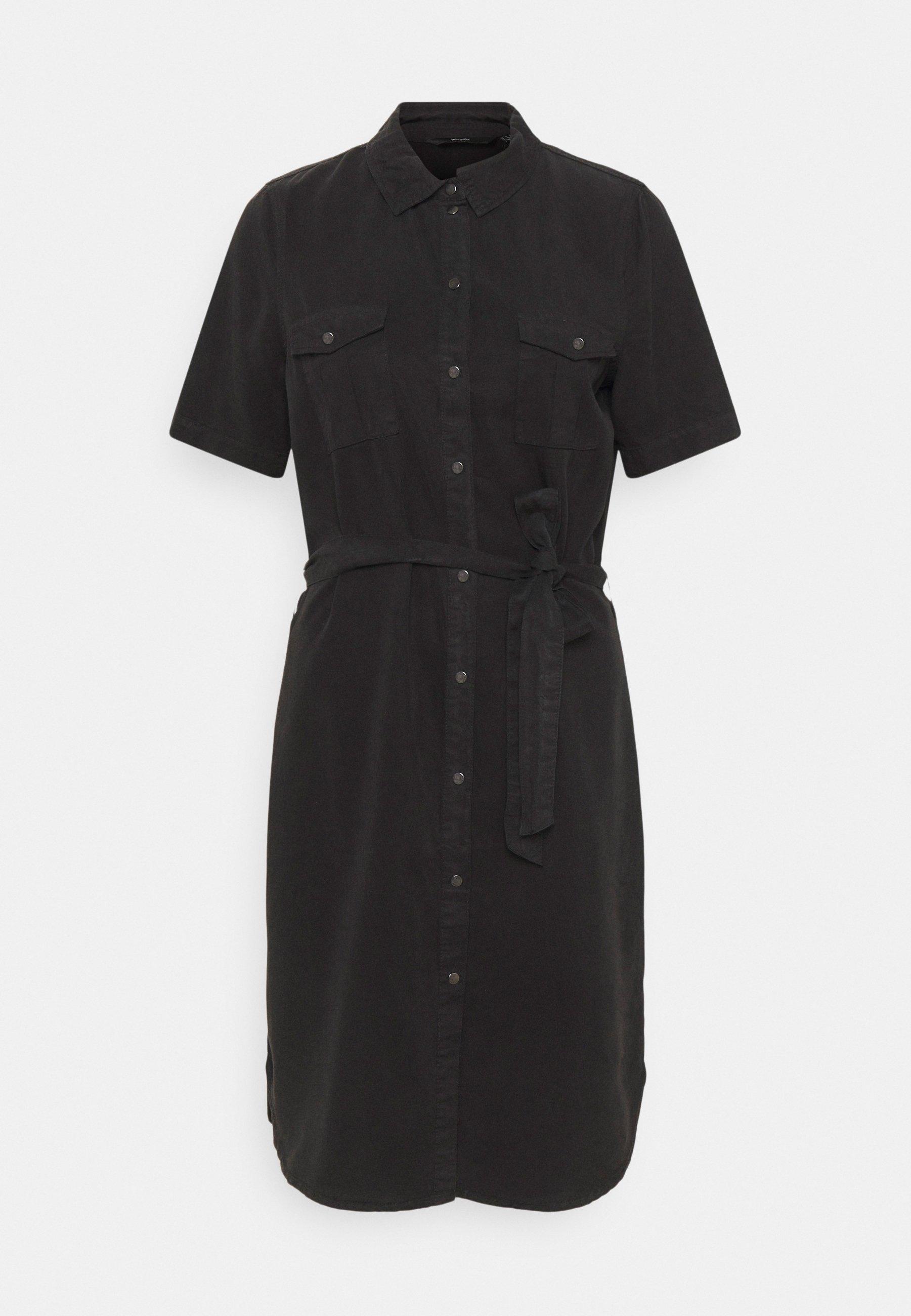 Women VMSILJA SHORT DRESS - Denim dress
