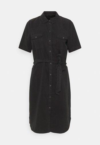 VMSILJA SHORT DRESS - Vestido vaquero - black denim