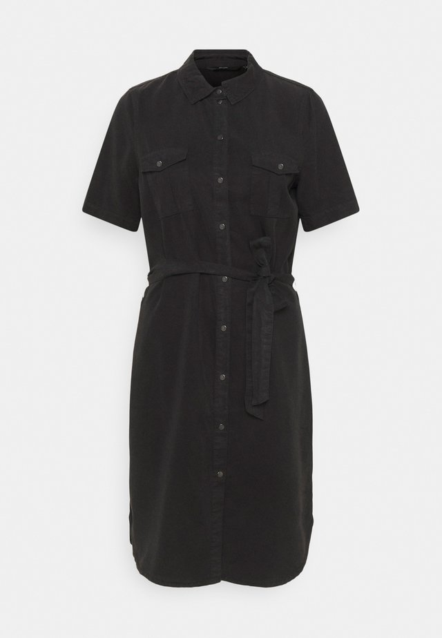 VMSILJA SHORT DRESS - Denimové šaty - black denim