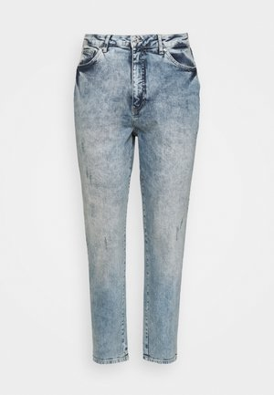 VMVIBE MOM - Straight leg jeans - medium blue denim