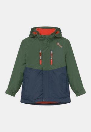 BRYGGEN 2 -IN- 1 UNISEX  - Hardshellová bunda - forest green/navy/flame orange