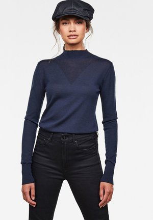 STOKYR TURTLE SLIM KNITTED - Jumper - sartho blue