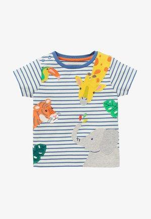 Print T-shirt - naturweiß/elisabethanisches blau  dschungel