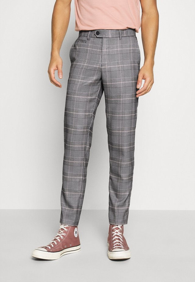 CHECKED PANTS - Trousers - brown