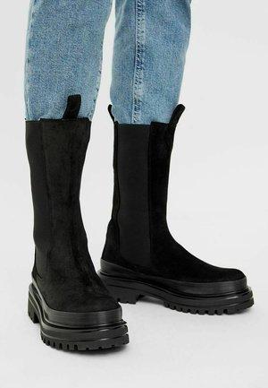 Platåstøvler - black1