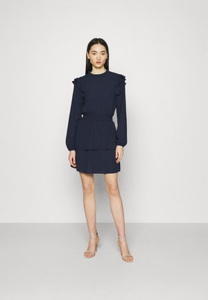 ONLEDEN FRILL DRESS - Day dress - navy