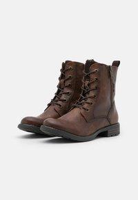 TOM TAILOR - Lace-up ankle boots - cognac - 2