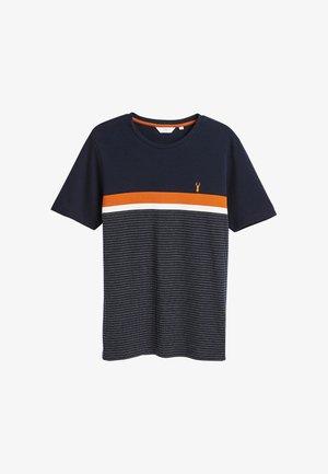 T-shirts print - mottled dark blue