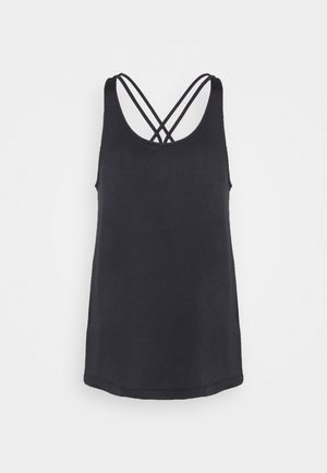 TUNIC TANK - Sports shirt - black/white