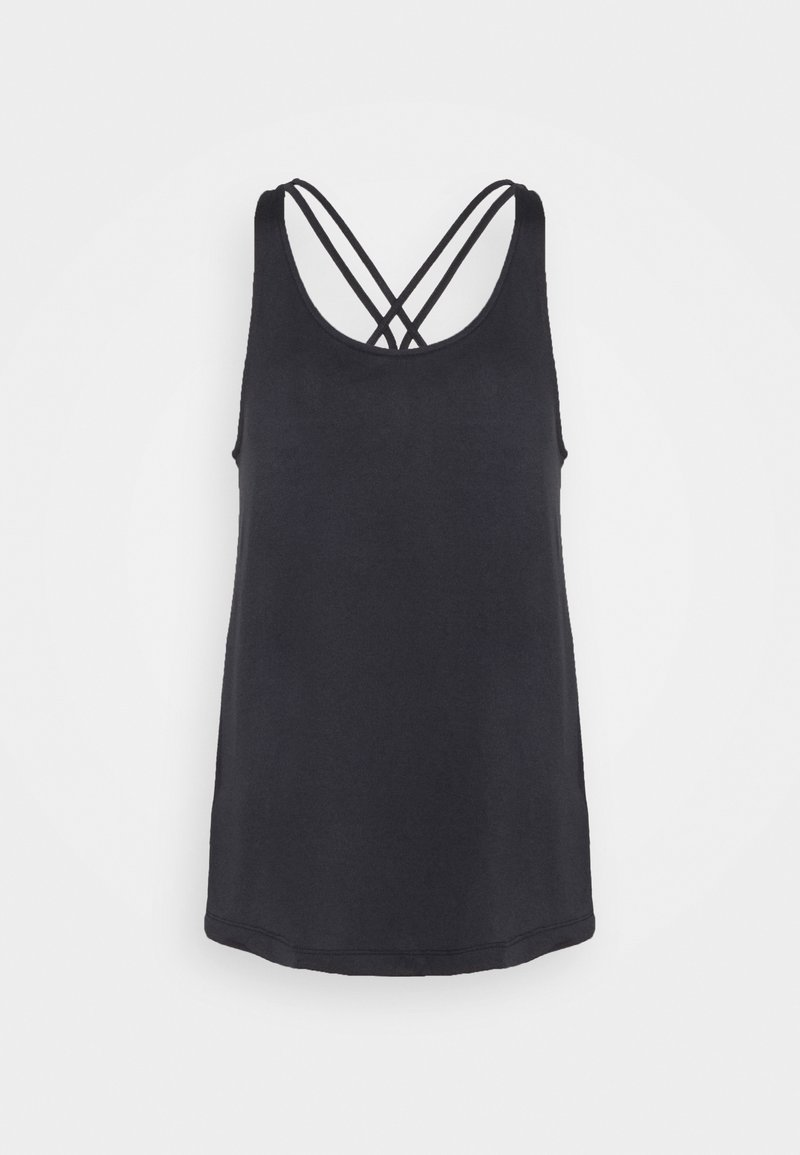 adidas Performance - TUNIC TANK - Funktionsshirt - black/white