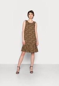 Opus - WENOLA ABSTRACT - Day dress - black/brown - 0