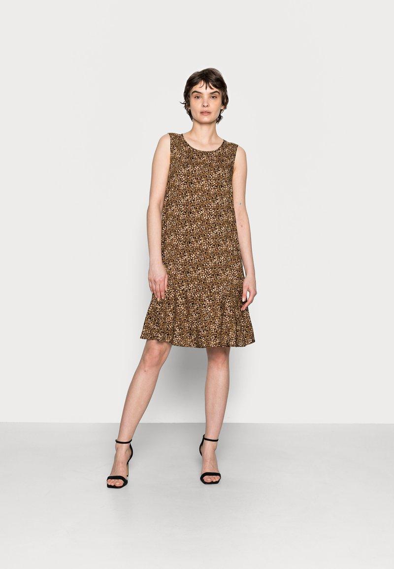 Opus - WENOLA ABSTRACT - Day dress - black/brown