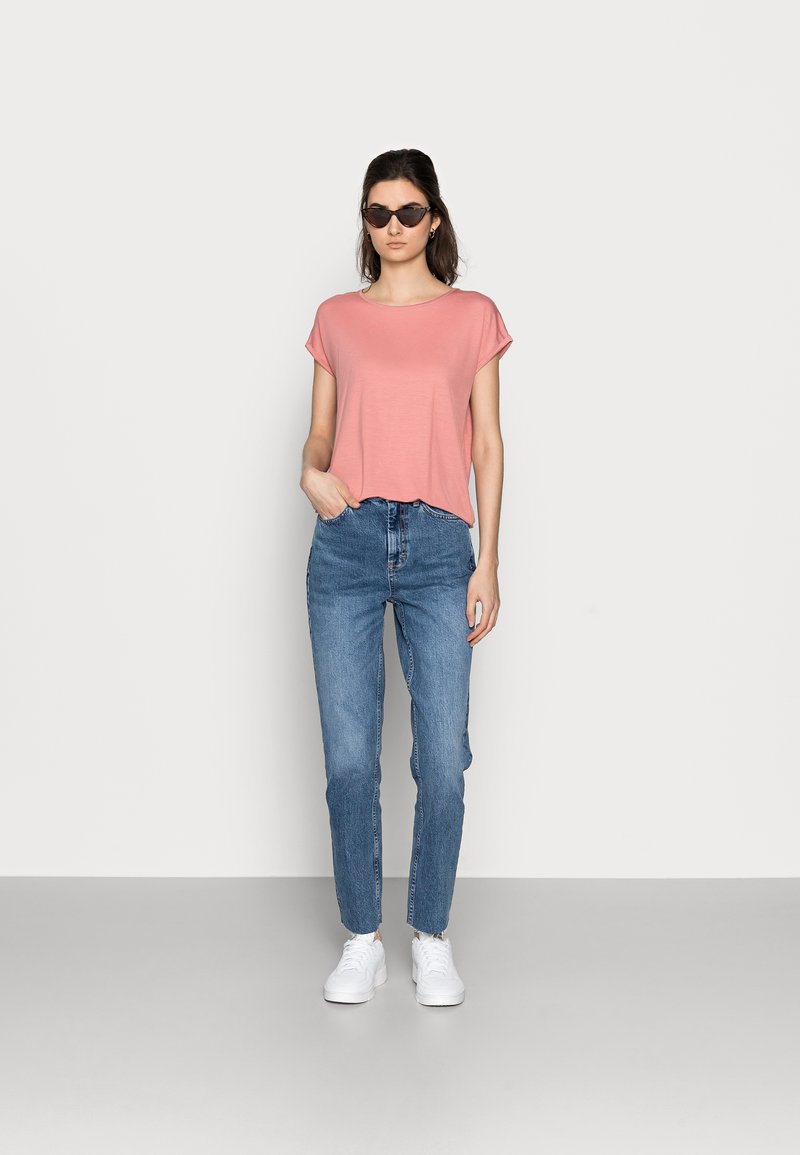 Vero Moda Tall - VMAVA PLAIN 2 PACK - Basic T-shirt - blue fog/old rose