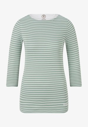 Long sleeved top - salbei-grün/off white