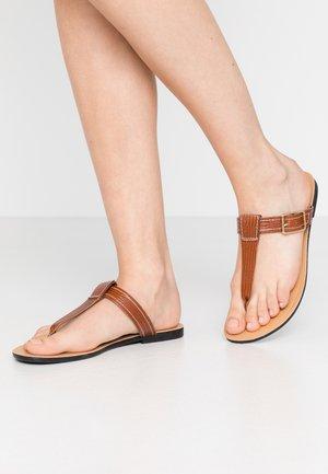 TIA - T-bar sandals - cognac