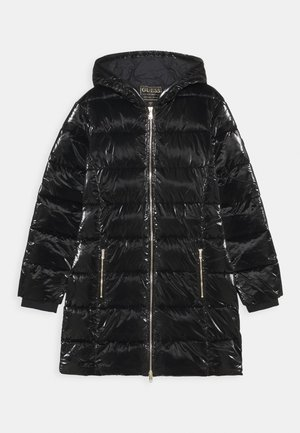 JUNIOR PADDED HOODED - Winter coat - jet black