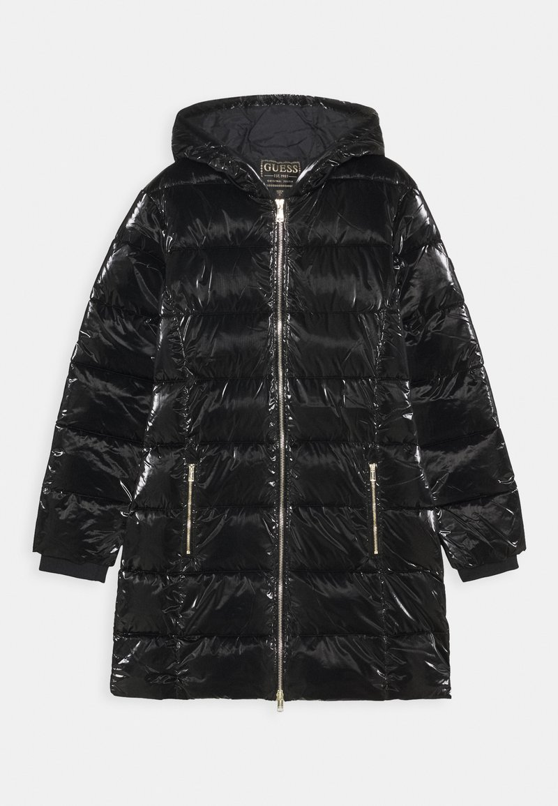 Guess - JUNIOR PADDED HOODED - Abrigo de invierno - jet black